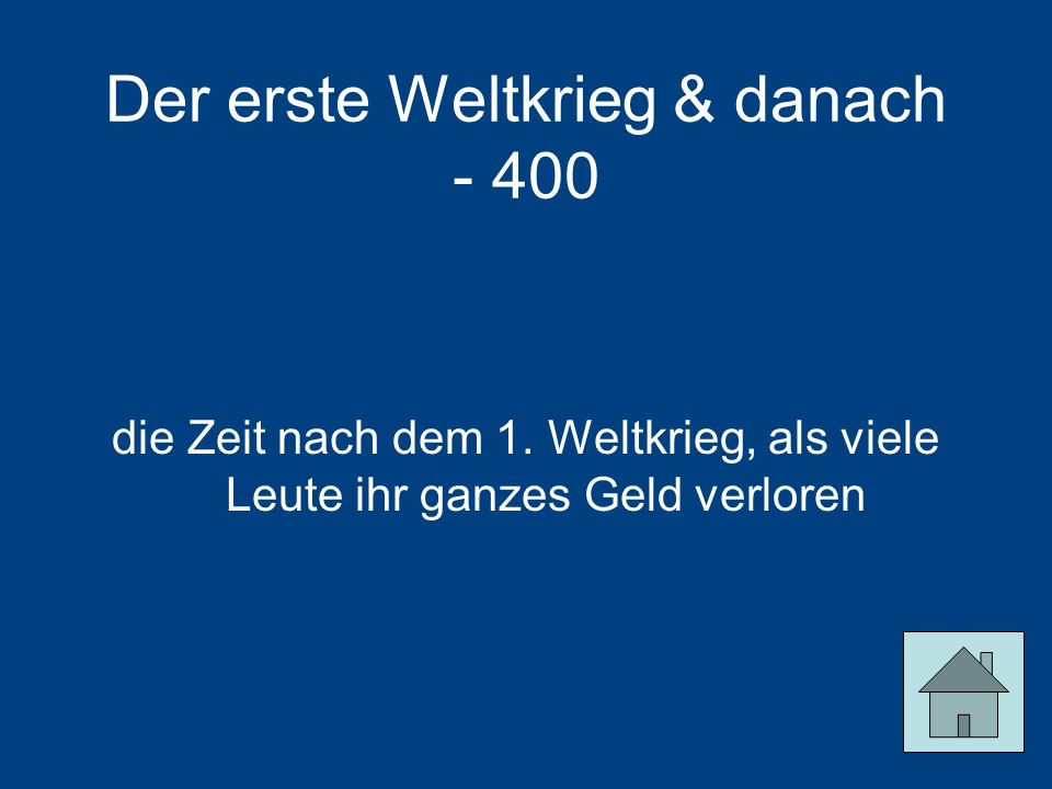 Der erste Weltkrieg & danach - 400
