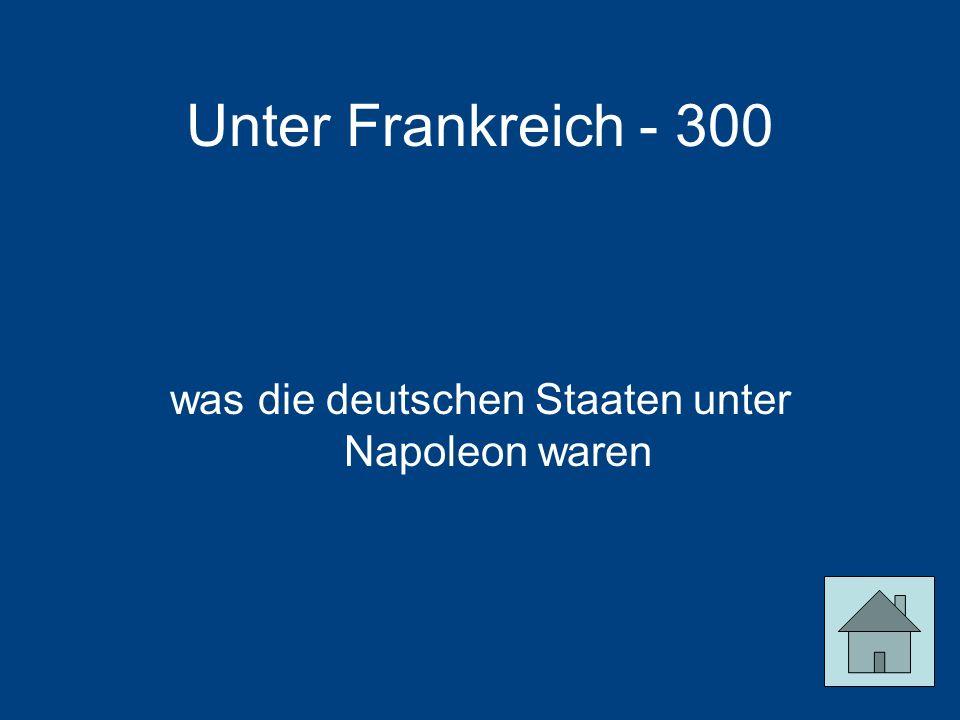 was die deutschen Staaten unter Napoleon waren