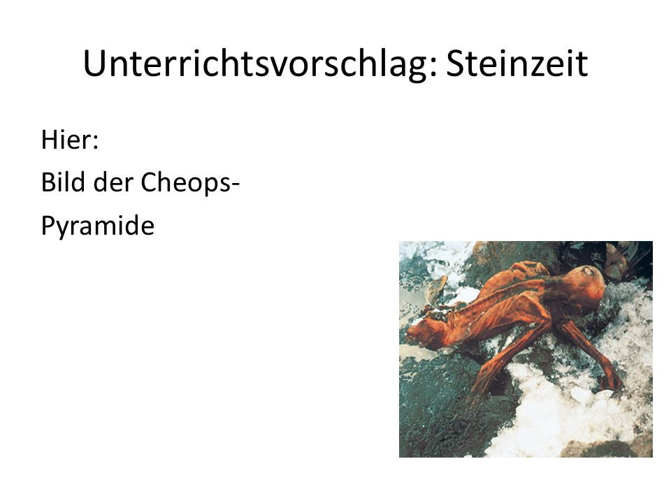 Unterrichtsvorschlag: Steinzeit