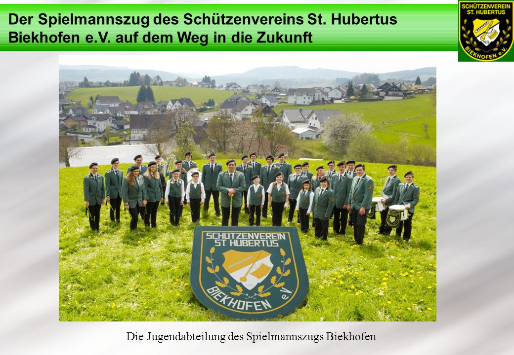 Die Jugendabteilung des Spielmannszugs Biekhofen