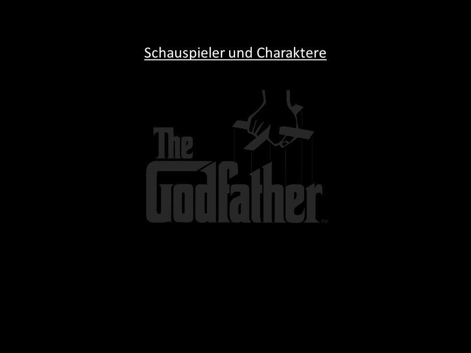 Schauspieler und Charaktere