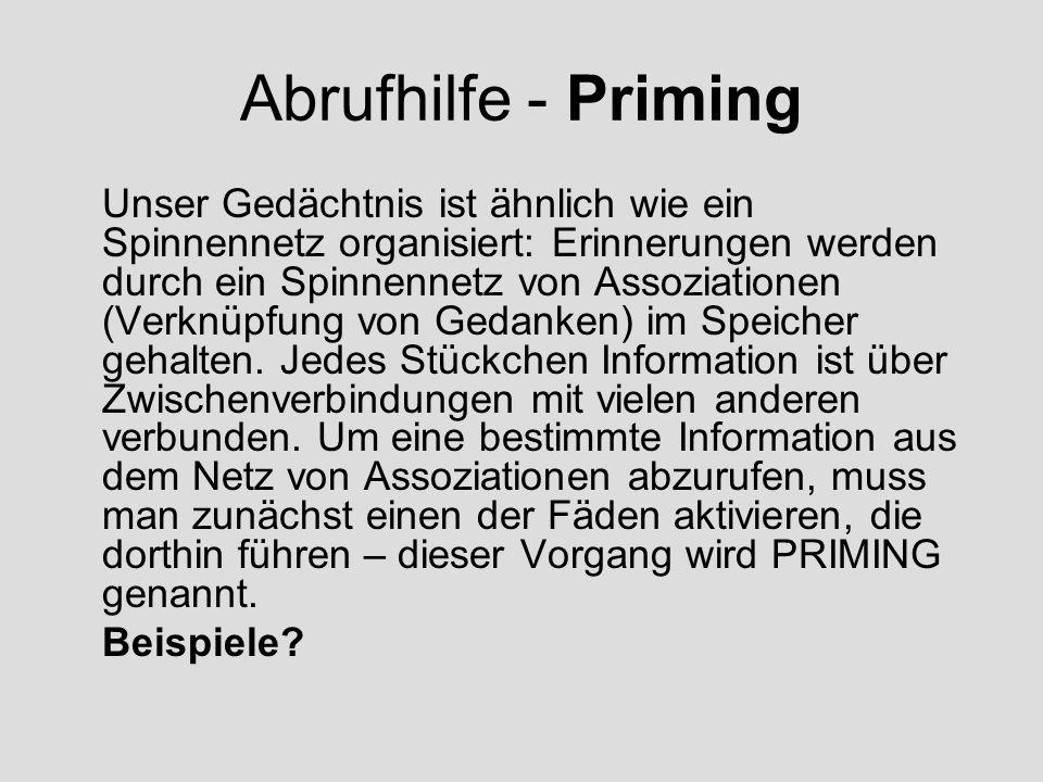 Abrufhilfe - Priming