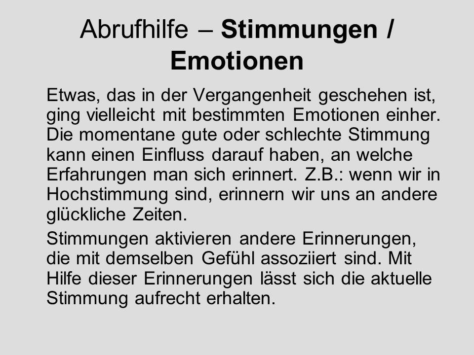 Abrufhilfe – Stimmungen / Emotionen