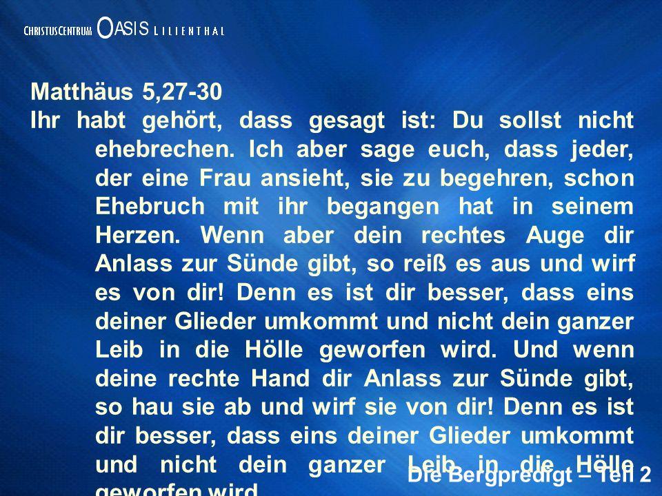 Matthäus 5,27-30
