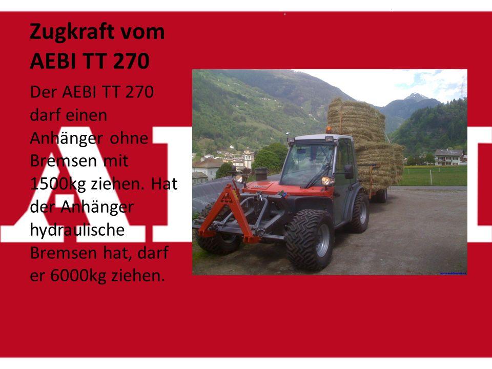 Zugkraft vom AEBI TT 270