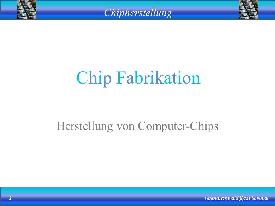 Herstellung von Computer-Chips
