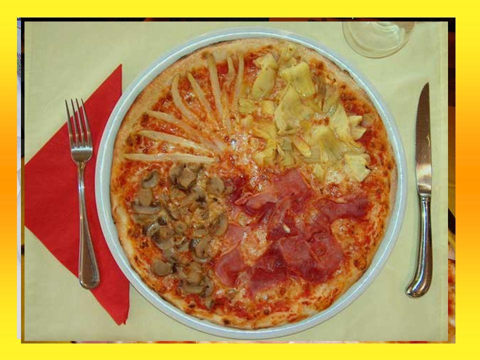 Allgemeines: Jede Pizza hat einen Pizzaboden und ist belegt mit
