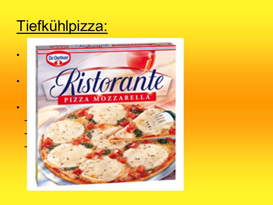 Tiefkühlpizza: 1960 in den USA entwickelt Industrielle Großproduktion