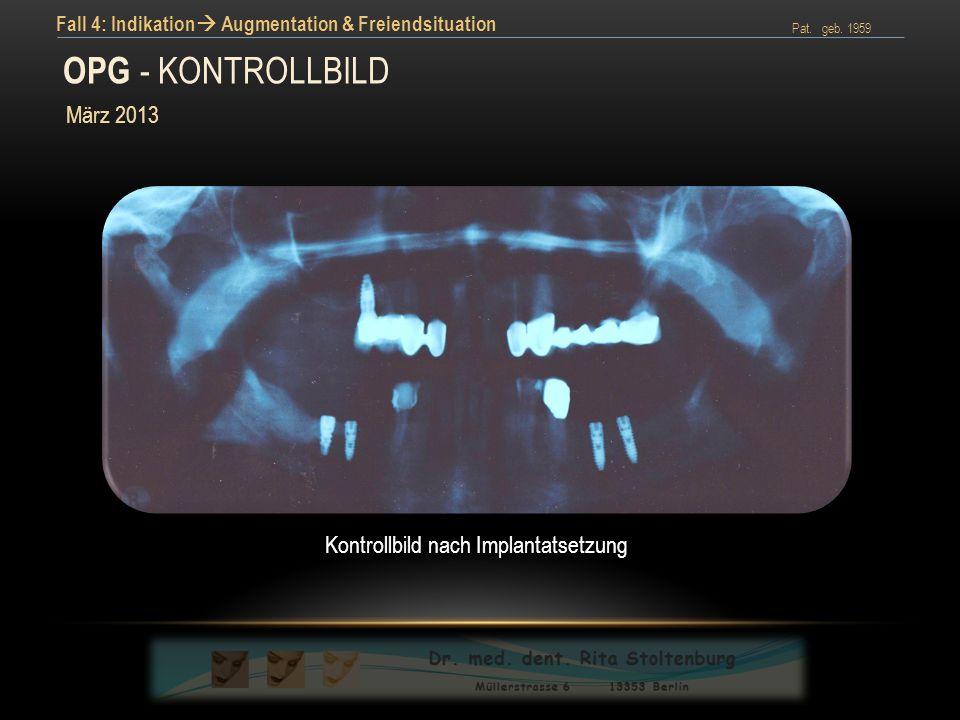 Kontrollbild nach Implantatsetzung