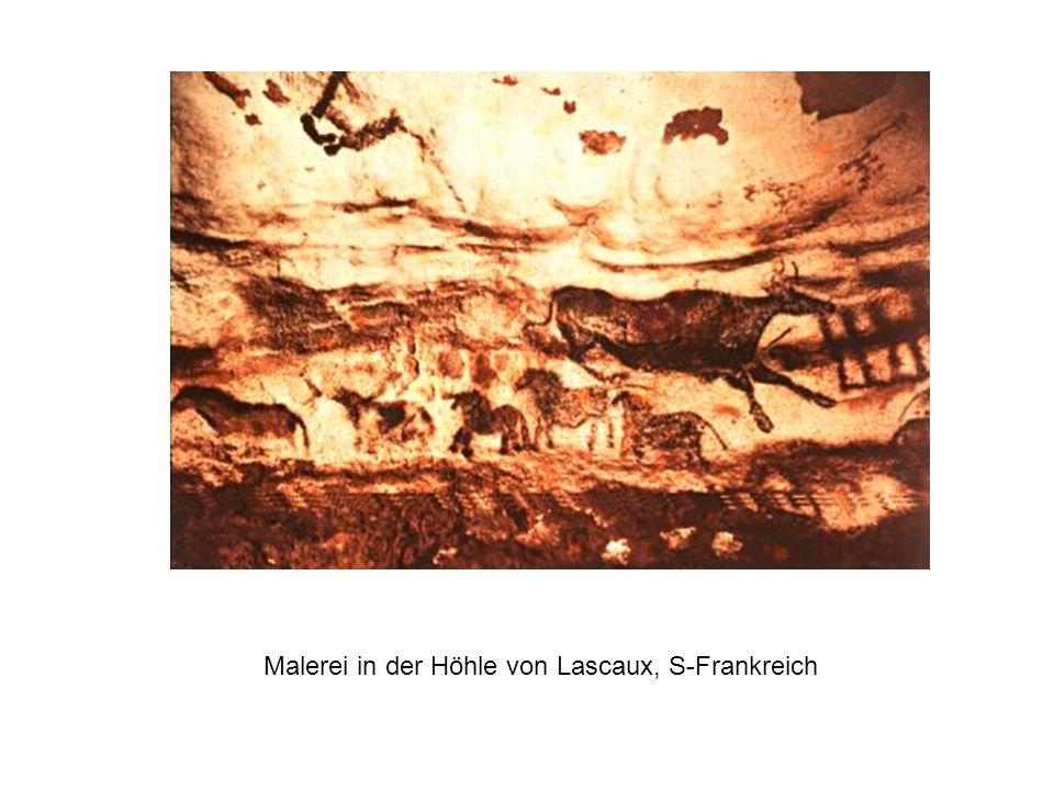 Malerei in der Höhle von Lascaux, S-Frankreich