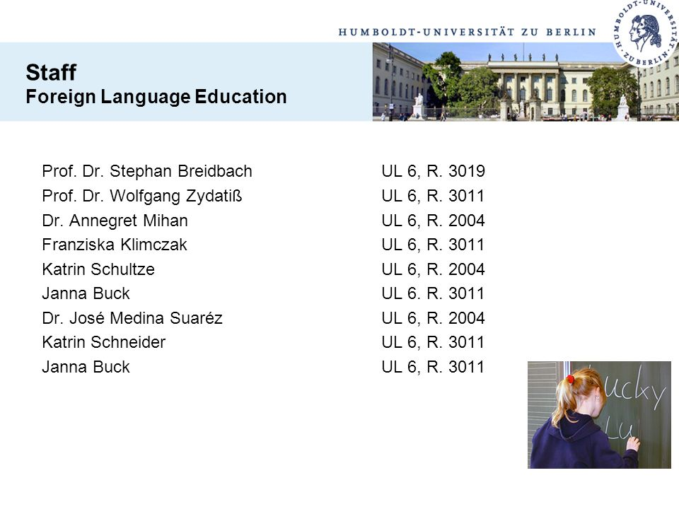Staff Foreign Language Education