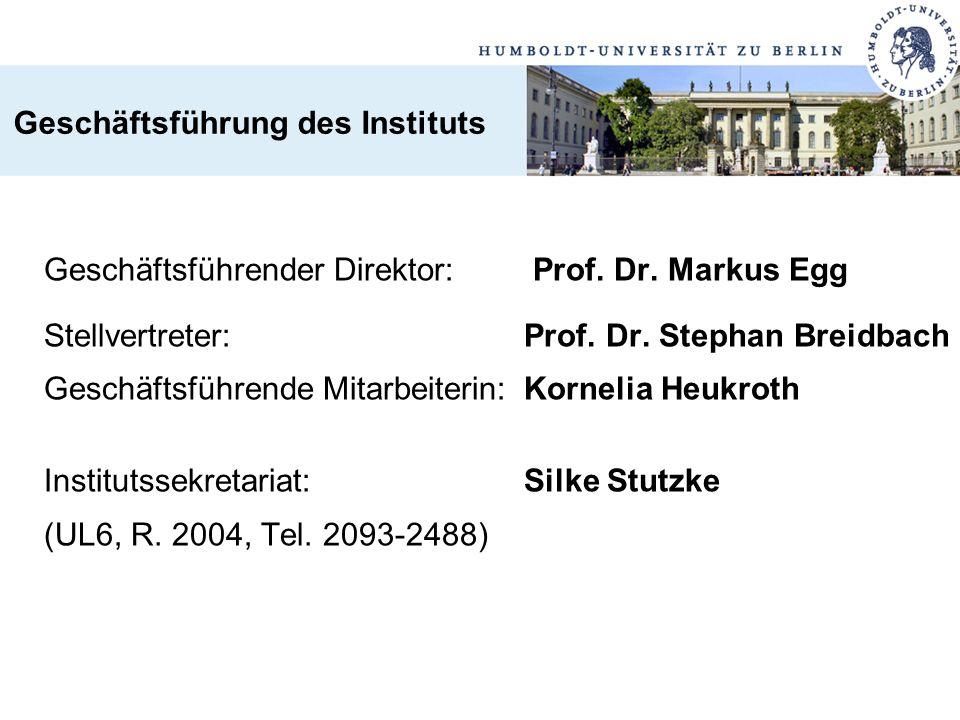 Geschäftsführung des Instituts