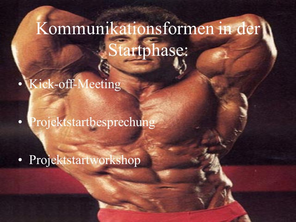 Kommunikationsformen in der Startphase: