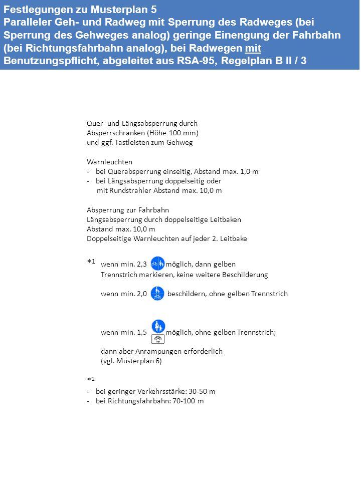 Festlegungen zu Musterplan 5