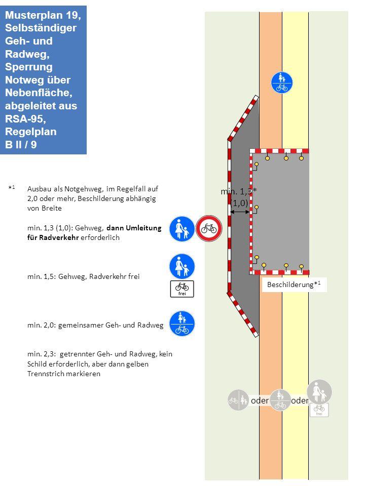 Musterplan 19, Selbständiger Geh- und Radweg,