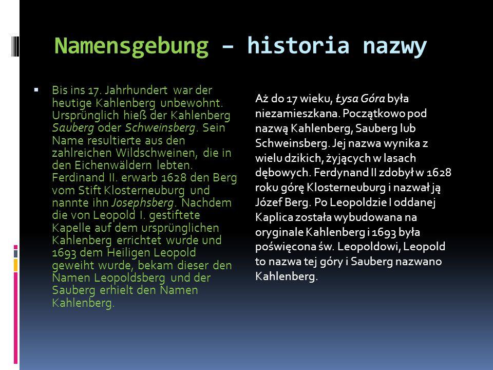 Namensgebung – historia nazwy
