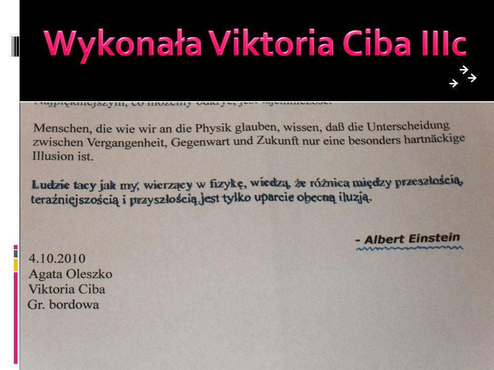 Wykonała Viktoria Ciba IIIc