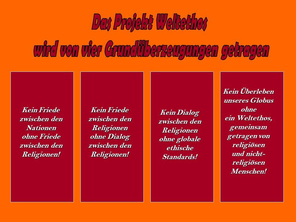 Das Projekt Weltethos wird von vier Grundüberzeugungen getragen