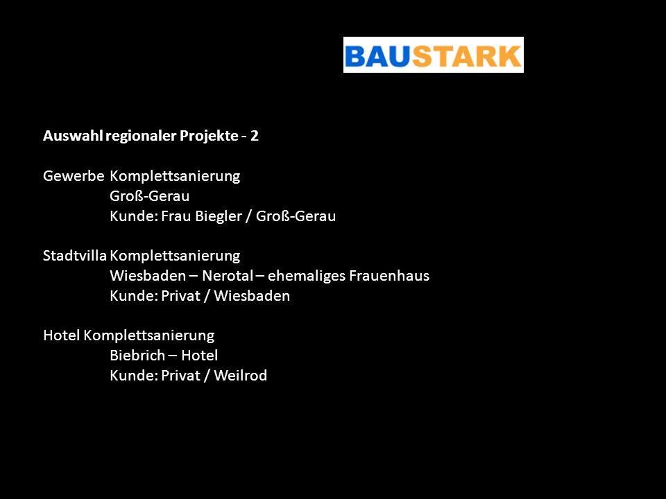 Auswahl regionaler Projekte - 2