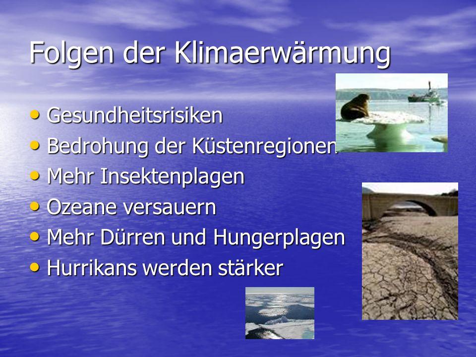 Folgen der Klimaerwärmung