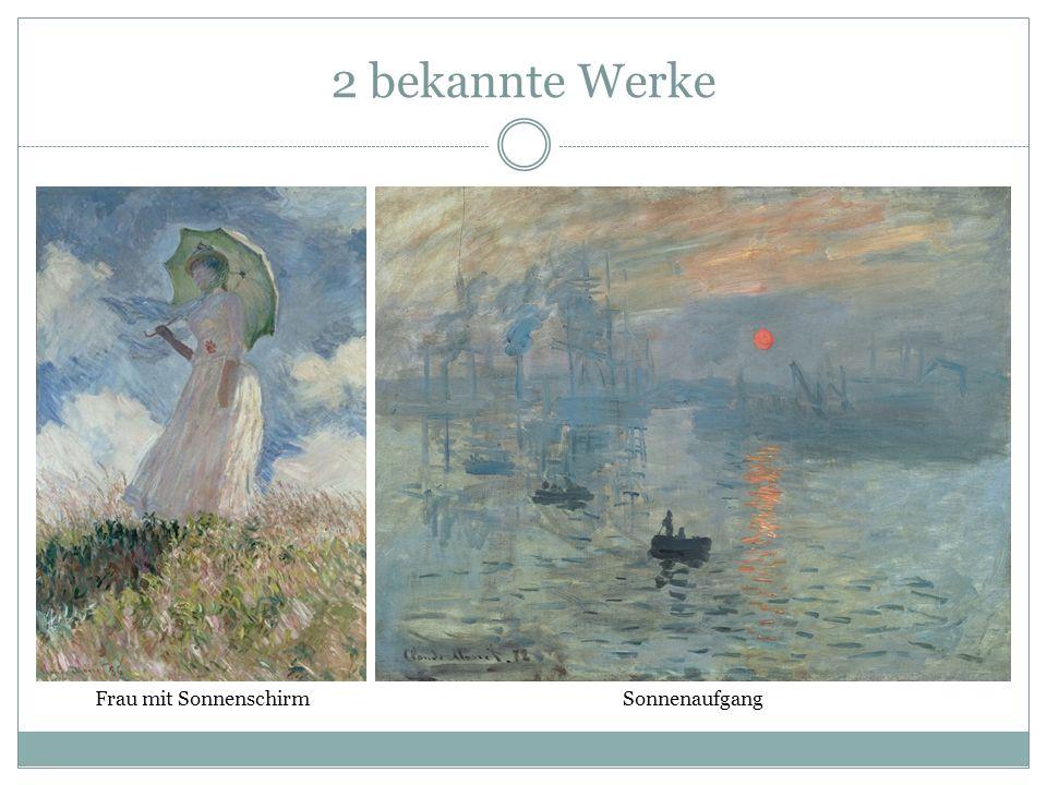 2 bekannte Werke Frau mit Sonnenschirm Sonnenaufgang