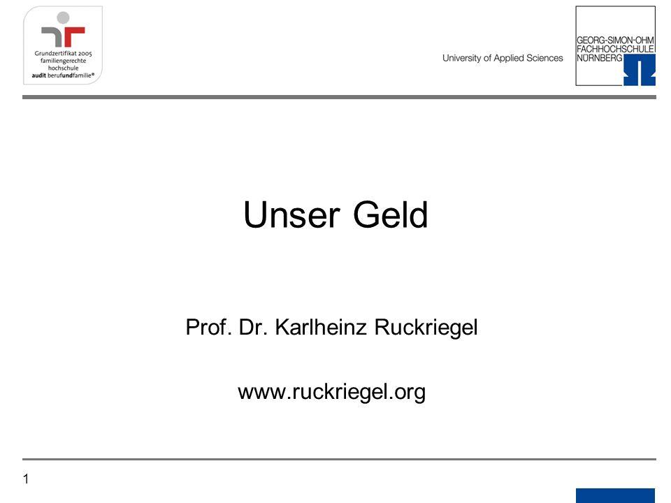 Notizen Prof. Dr. Karlheinz Ruckriegel www.ruckriegel.org