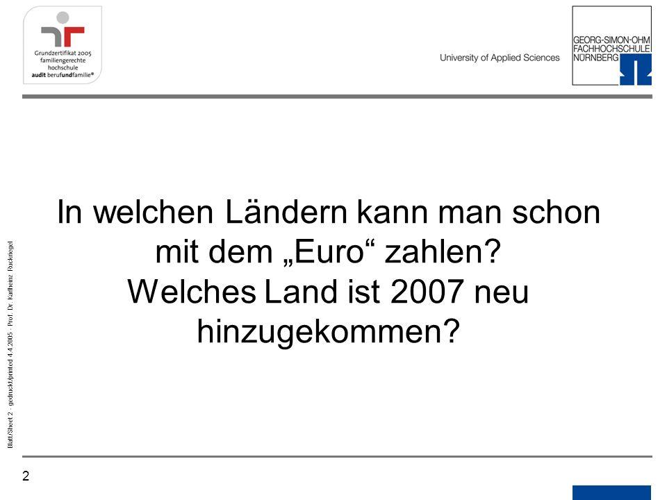 """In welchen Ländern kann man schon mit dem """"Euro zahlen"""