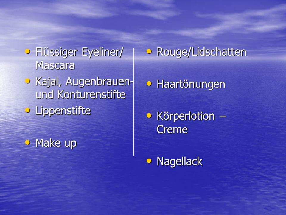 Flüssiger Eyeliner/ Mascara