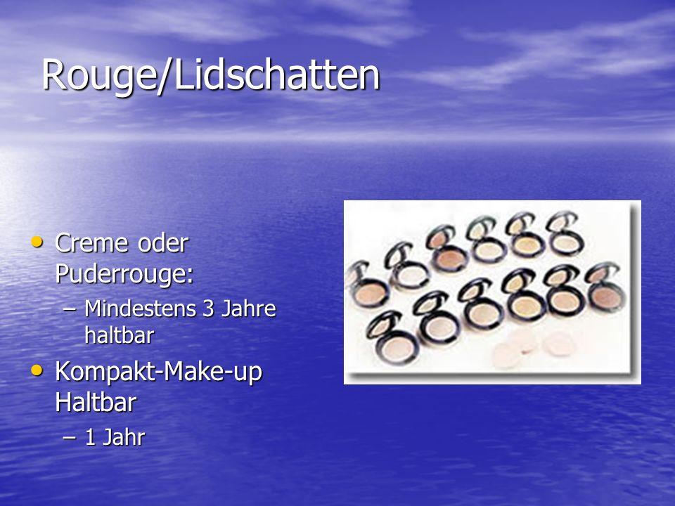 Rouge/Lidschatten Creme oder Puderrouge: Kompakt-Make-up Haltbar
