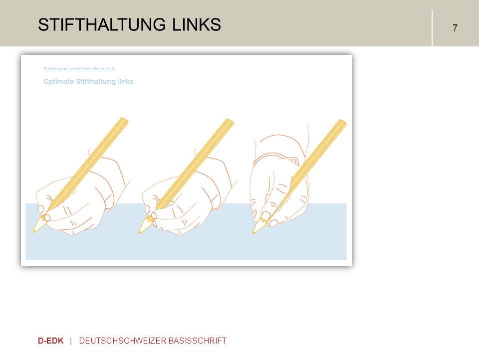 Stifthaltung links