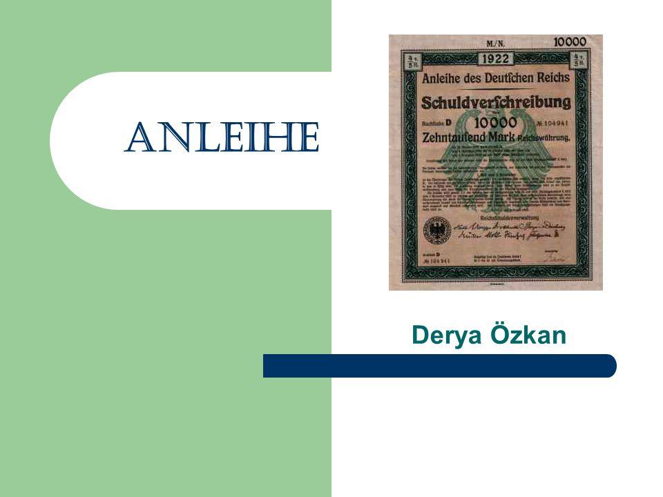 Anleihe Derya Özkan