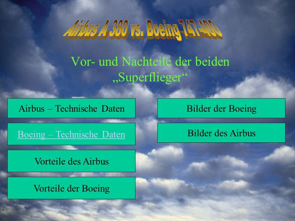 """Vor- und Nachteile der beiden """"Superflieger"""