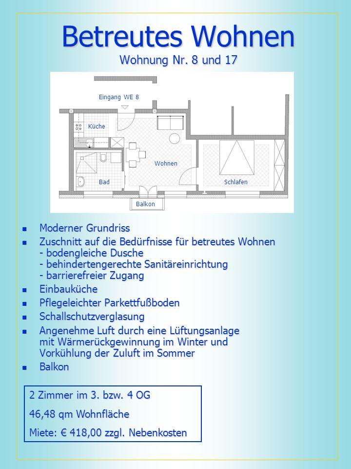 Betreutes Wohnen Wohnung Nr. 8 und 17