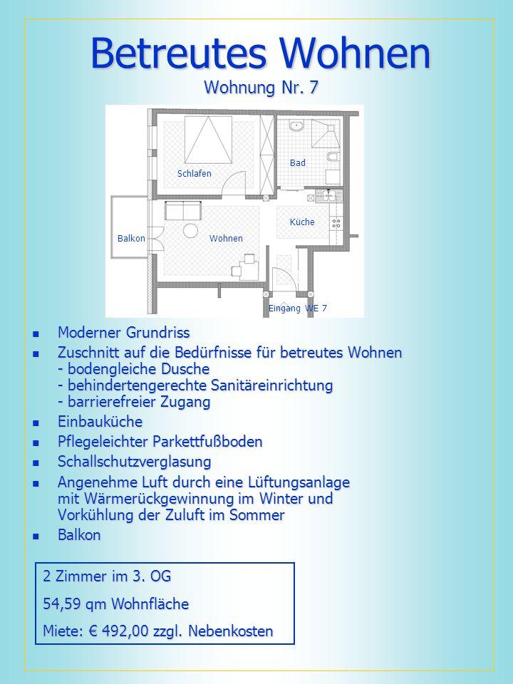 Betreutes Wohnen Wohnung Nr. 7