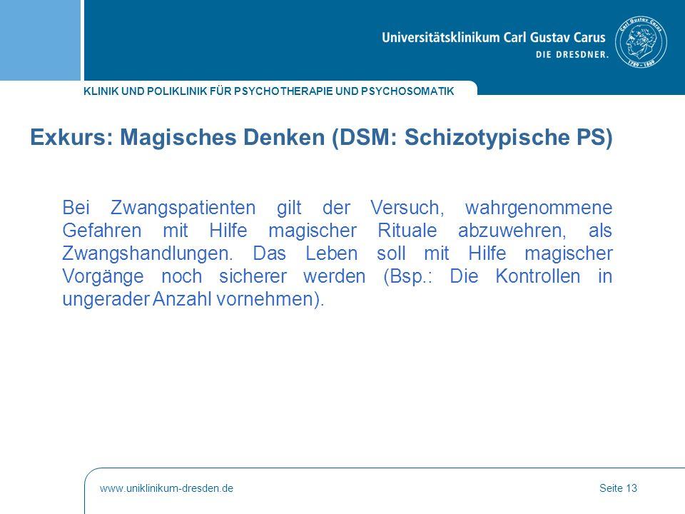 Exkurs: Magisches Denken (DSM: Schizotypische PS)