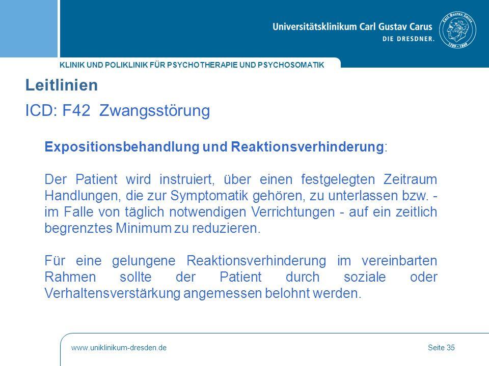 Leitlinien ICD: F42 Zwangsstörung