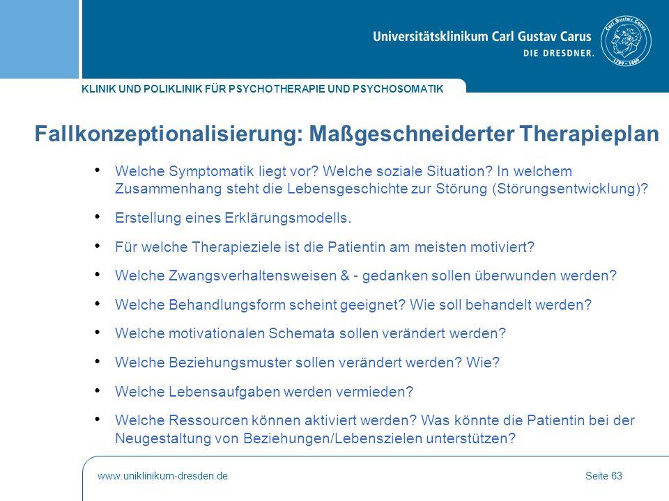 Fallkonzeptionalisierung: Maßgeschneiderter Therapieplan