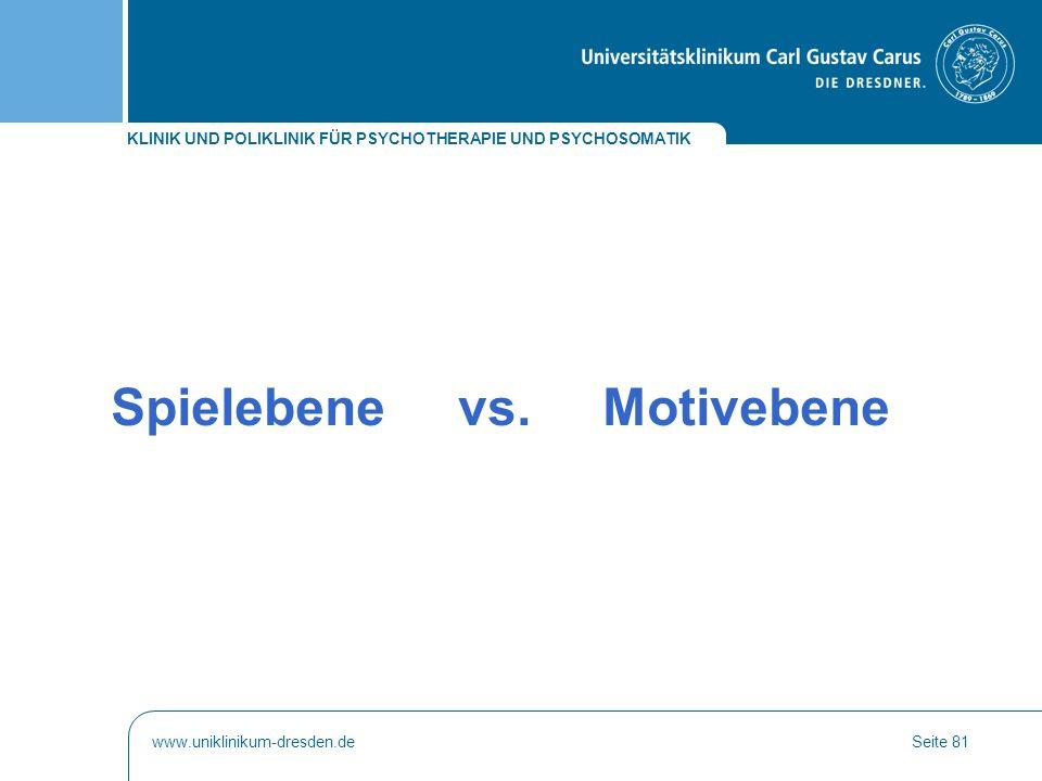 Spielebene vs. Motivebene