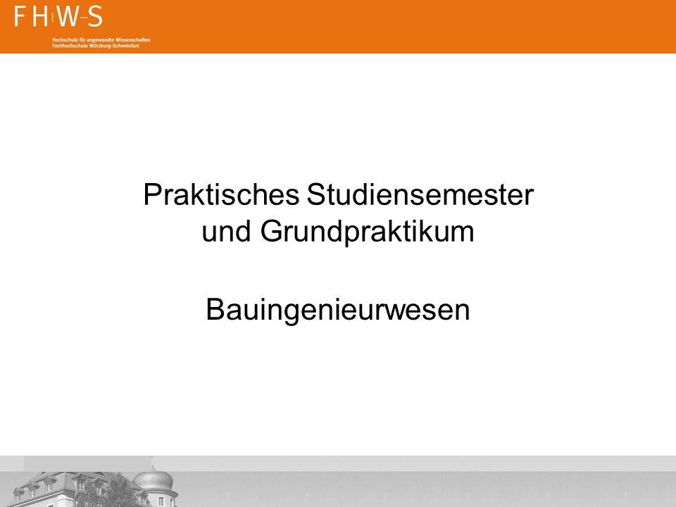 Praktisches Studiensemester und Grundpraktikum