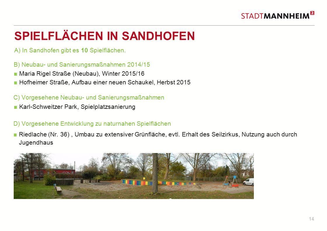 Spielflächen in Sandhofen