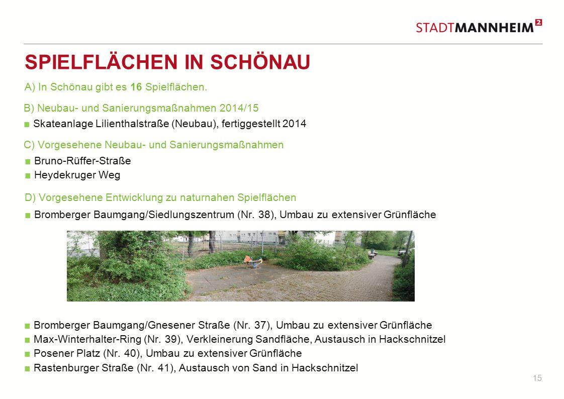 Spielflächen in Schönau