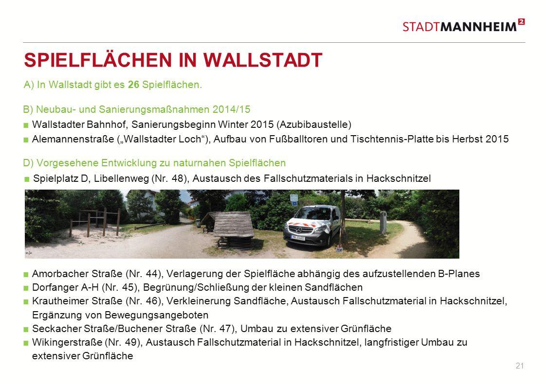 Spielflächen in Wallstadt