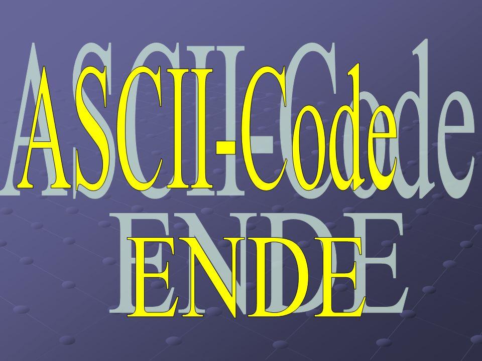 ASCII-Code ENDE