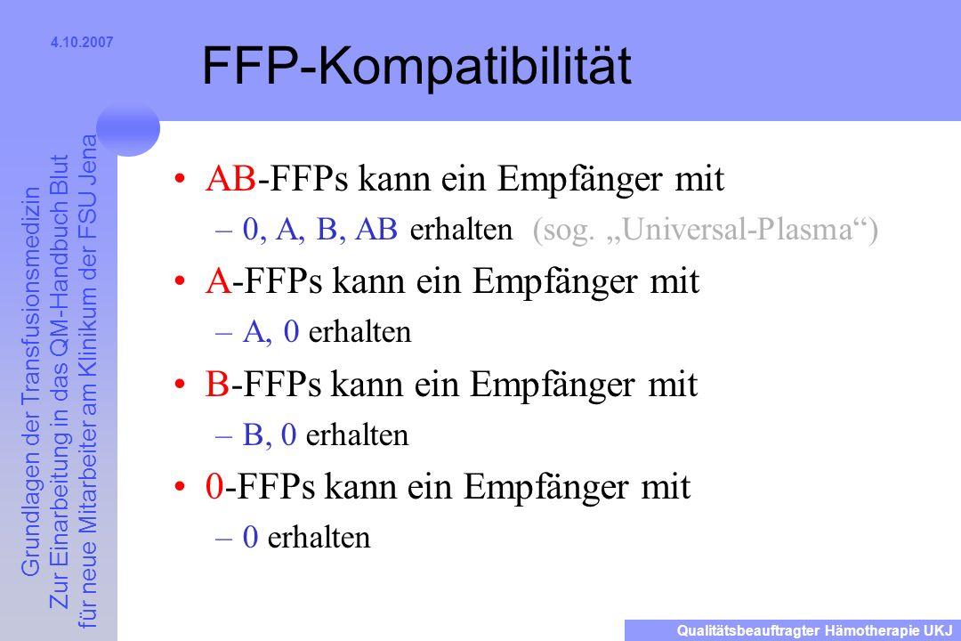 FFP-Kompatibilität AB-FFPs kann ein Empfänger mit