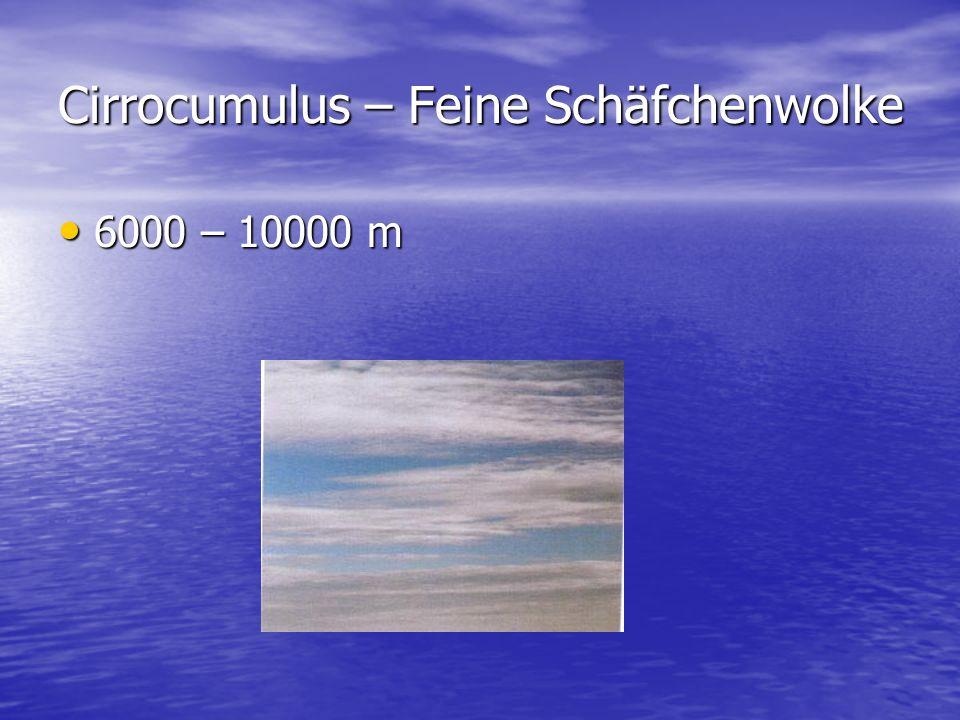 Cirrocumulus – Feine Schäfchenwolke
