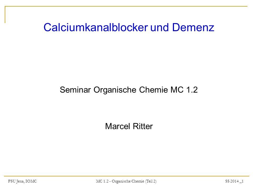 Calciumkanalblocker und Demenz