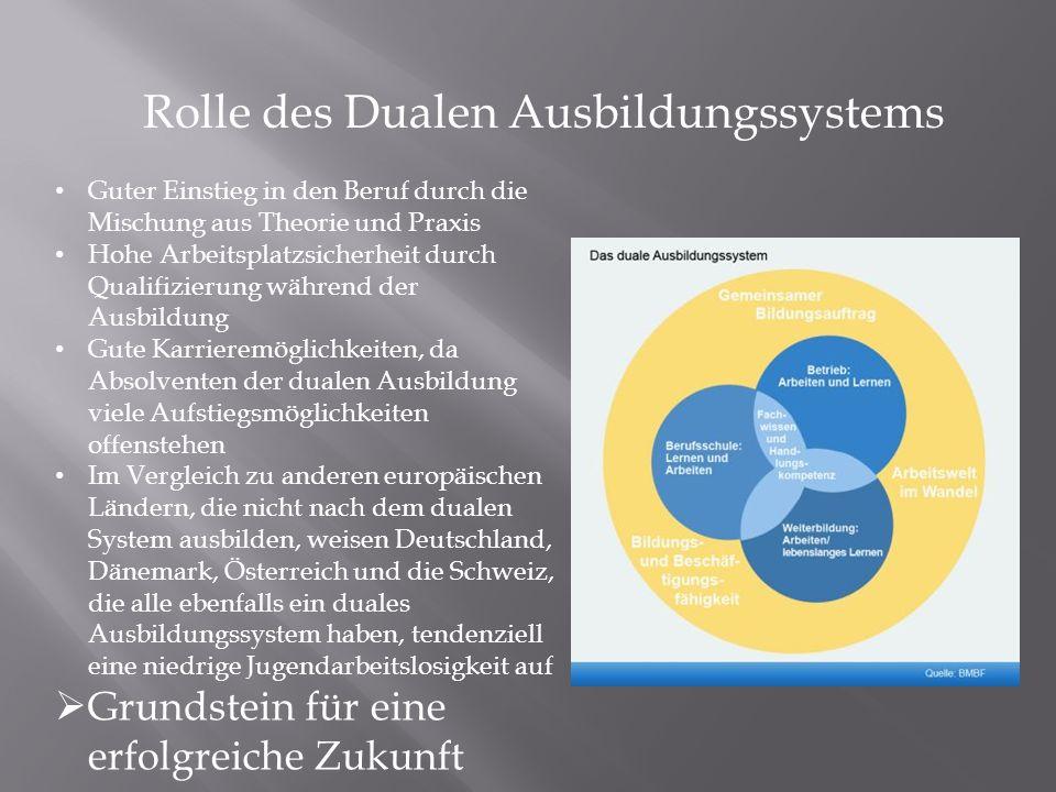 Rolle des Dualen Ausbildungssystems