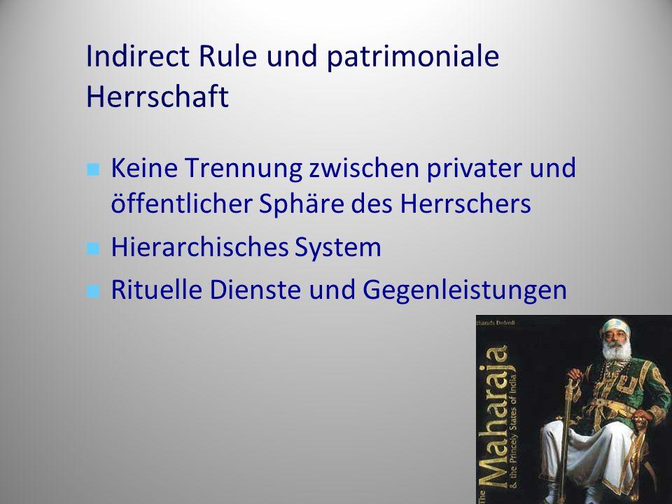 Indirect Rule und patrimoniale Herrschaft