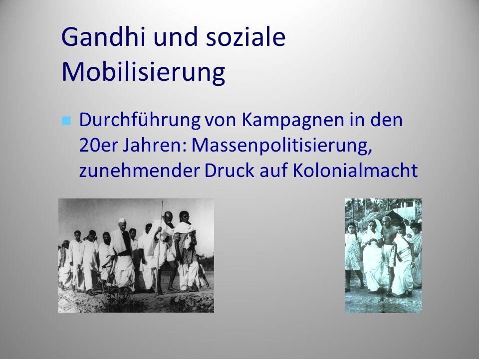 Gandhi und soziale Mobilisierung