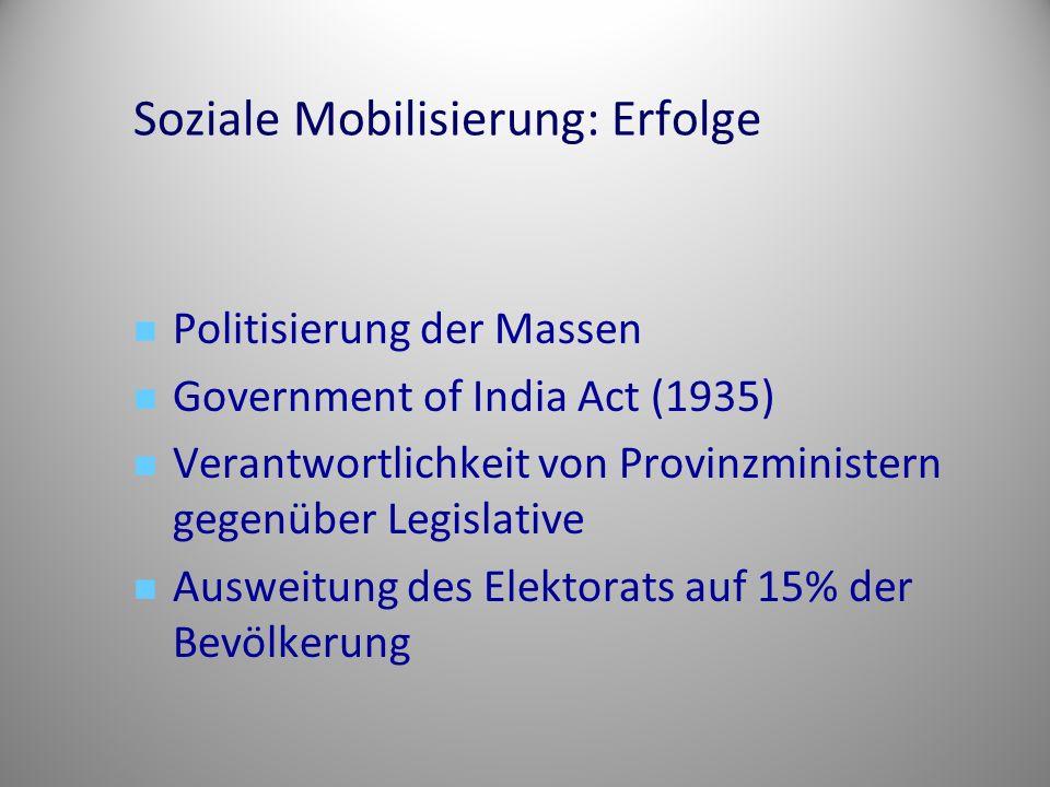 Soziale Mobilisierung: Erfolge